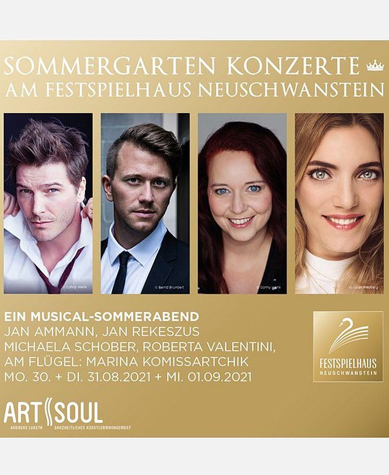 EIN MUSICAL-SOMMERABEND: JAN AMMANN, JAN REKESZUS, MICHAELA SCHOBER, ROBERTA VALENTINI