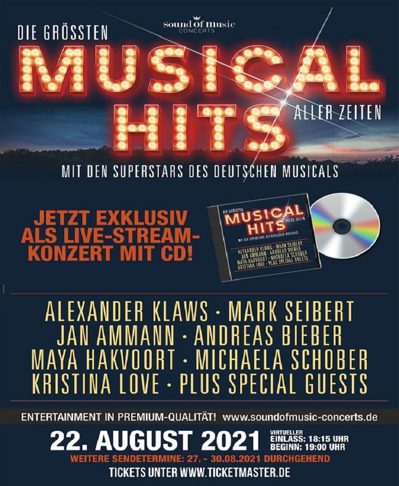 DIE GRÖßTEN MUSICALHITS ALLER ZEITEN – SUMMER EDITION 2021 (STREAMING KONZERT)